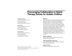 Encouraging Collaboration in Hybrid Therapy Games for Autistic Children Abstract