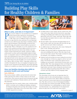 P Building Play Skills for Healthy Children & Families