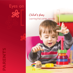 Eyes on Child's play Learning that comes naturally