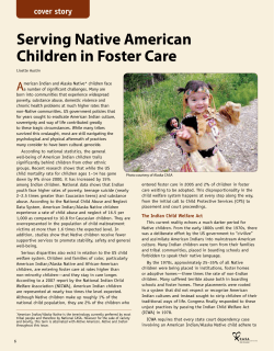 Serving Native American Children in Foster Care A cover story