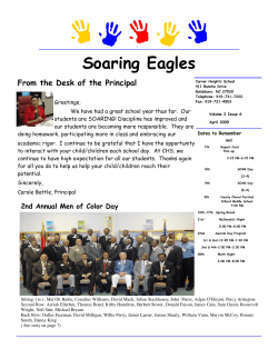 Soaring Eagles From the Desk of the Principal