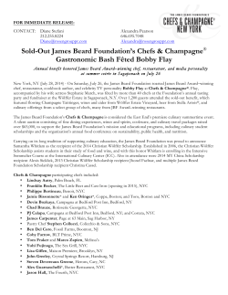 Sold-Out James Beard Foundation's Chefs & Champagne