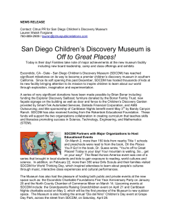 San Diego Children's Discovery Museum is Off to Great Places!