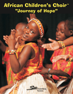 "African Children's Choir ""Journey of Hope"" ™"