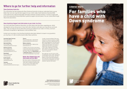 For families who Where to go for further help and information