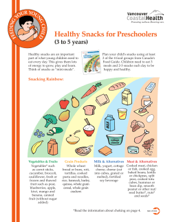 Healthy Snacks for Preschoolers (3 to 5 years)