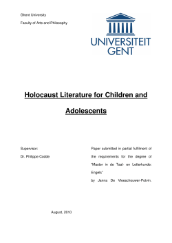 Holocaust Literature for Children and Adolescents