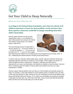 Get Your Child to Sleep Naturally