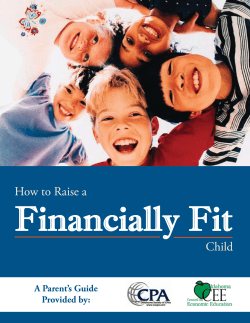 Financially Fit  How	to	Raise	a Child
