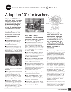 Adoption 101: for teachers