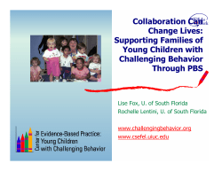 Collaboration Can Change Lives: Supporting Families of Young Children with