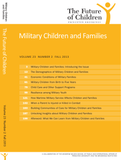 Military Children and Families The Fu tu