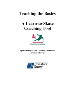 Teaching the Basics  A Learn-to-Skate Coaching Tool