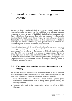 3  Possible causes of overweight and obesity