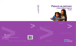 Parents as partners in their children's learning REPRESENTED Toolkit