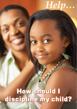 Help… How should I discipline my child?