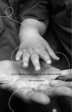 citizens caring for children 2012 Annual Report