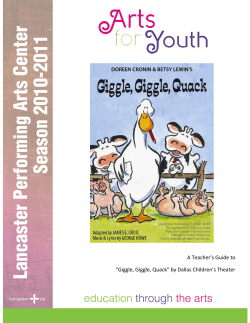 "A Teacher's Guide to ""Giggle, Giggle, Quack"" by Dallas Children's Theater"