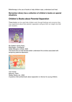 Children's Books about Parental Separation situations.