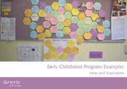Early Childhood Program Examples Gowrie Ideas and Inspiration South Australia