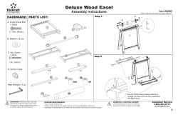 Deluxe Wood Easel Assembly Instructions HARDWARE: PARTS LIST: