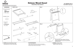 Deluxe Wood Easel Assembly Instructions Item #62005A Natural Item #62019 Espresso