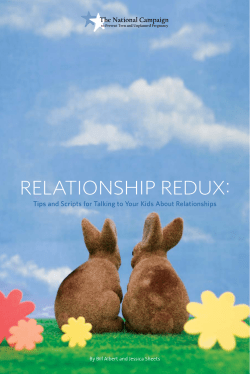 RELATIONSHIP REDUX: By Bill Albert and Jessica Sheets