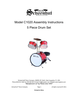 Model C1020 Assembly Instructions 5 Piece Drum Set