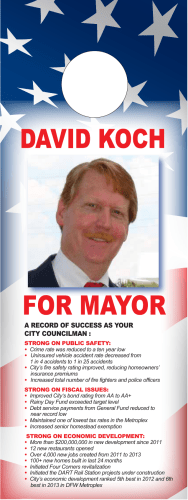 A RECORD OF SUCCESS AS YOUR CITY COUNCILMAN :