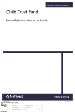 Child Trust Fund Provided by National Westminster Bank Plc