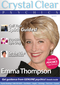 Emma Thompson  Spirit Guides! Call Your