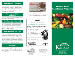 Kansas Food Assistance Program How soon can I get help?