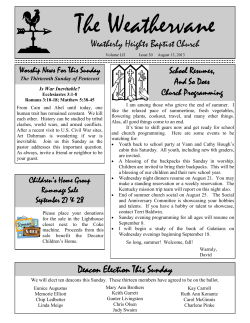 The Weathervane  Weatherly Heights Baptist Church School Resumes,