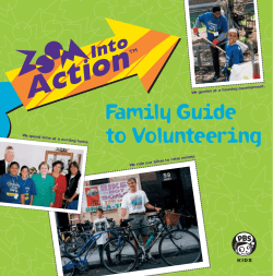 Family Guide to Volunteering velopment. t a housing de