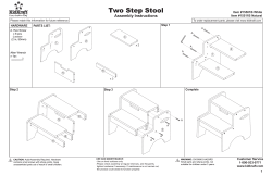 Two Step Stool Assembly Instructions Item #15501B White Item #15511B Natural