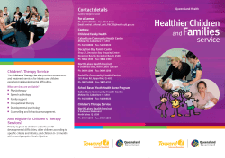 Families Healthier Children service and