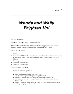 Wanda and Wally Brighten Up! 6 Lesson