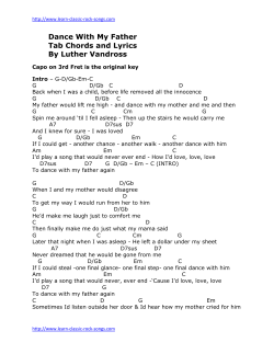Dance With My Father Tab Chords and Lyrics By Luther Vandross