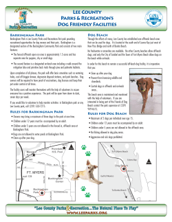 Lee County Parks & Recreation's Dog Friendly Facilities Barkingham Park