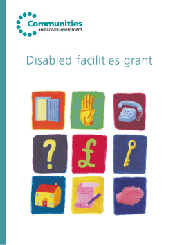 Disabled facilities grant