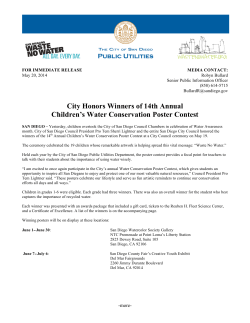 City Honors Winners of 14th Annual Children's Water Conservation Poster Contest