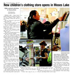New children's clothing store opens in Moses Lake Offers parents selection