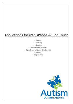 Applications for iPad, iPhone & iPod Touch