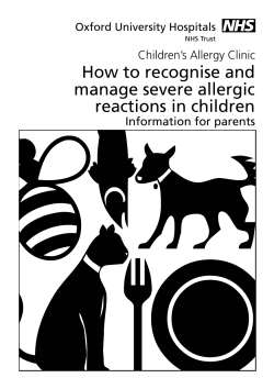 How to recognise and manage severe allergic reactions in children Children's Allergy Clinic