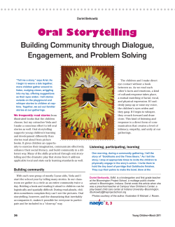 Oral Storytelling Building Community through Dialogue, Engagement, and Problem Solving