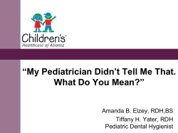 """My Pediatrician Didn't Tell Me That. What Do You Mean?"""