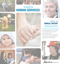 HUMAN SERVICES ALBERTA HIGHLIGHTS ANNUAL REPORT