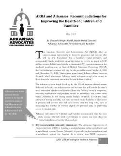 T ARRA and Arkansas: Recommendations for  Improving the Health of Children and