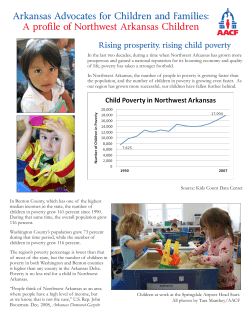 Arkansas Advocates for Children and Families: Rising prosperity, rising child poverty