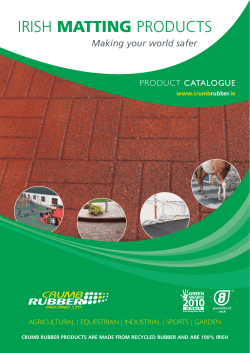 MATTING Making your world safer PRODUCT CATALOGUE